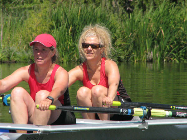 Loren and Michele Rowing