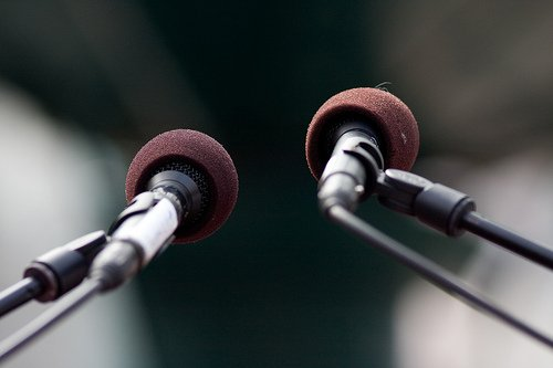 What fuels your public speaking anxiety? photo credit: Håkan Dahlström Microphones via photopin (license)